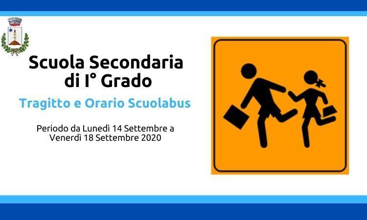 Trasporto e servizio scuolabus scuola secondaria di primo grado